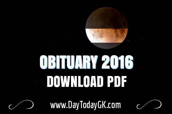 List of Obituary 2016