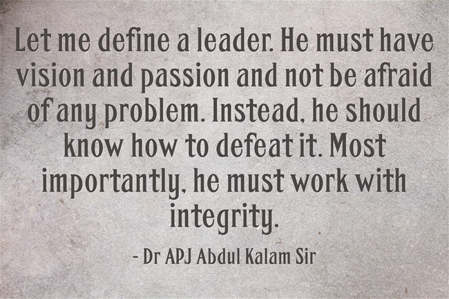 Motivational Quotes by APJ Abdul Kalam