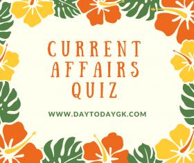 Current Affairs Quiz