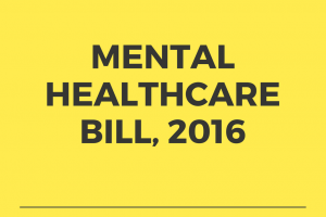 Mental Healthcare Bill, 2016