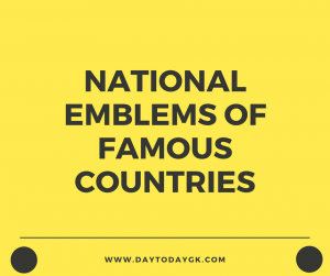 National Emblems of Famous Countries