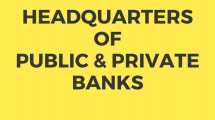Head Quarters of Public and Private Banks in India