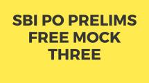 SBI PO Free Mock Test