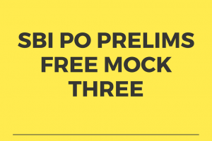 SBI PO Free Mock Test