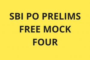 SBI PO Prelims Free Mock