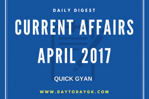 Current Affairs April 2017