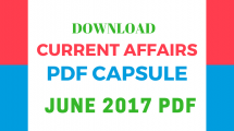 Current Affairs June 2017 PDF