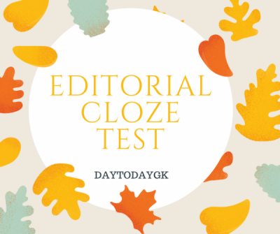 Editorial Cloze Test
