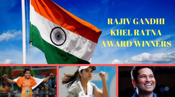 Rajiv Gandhi Khel Ratna Award Winners