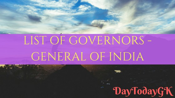 Governors General of India